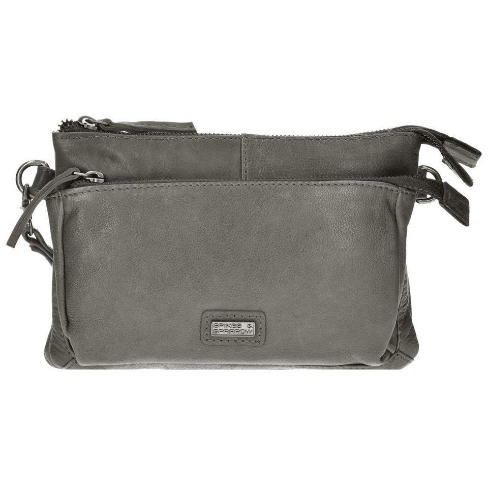Spikes & Sparrow Idaho Clutch Tasche Leder 23 cm in grey