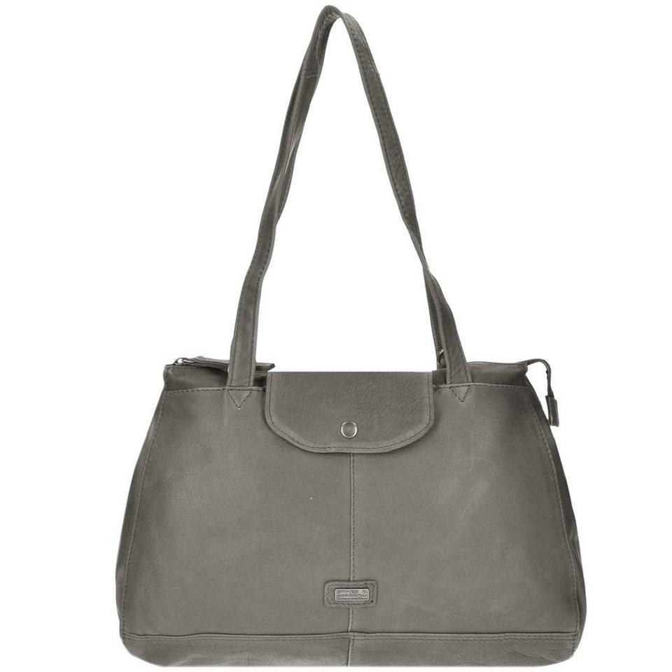 Spikes & Sparrow Idaho Handtasche Leder 36 cm in grey