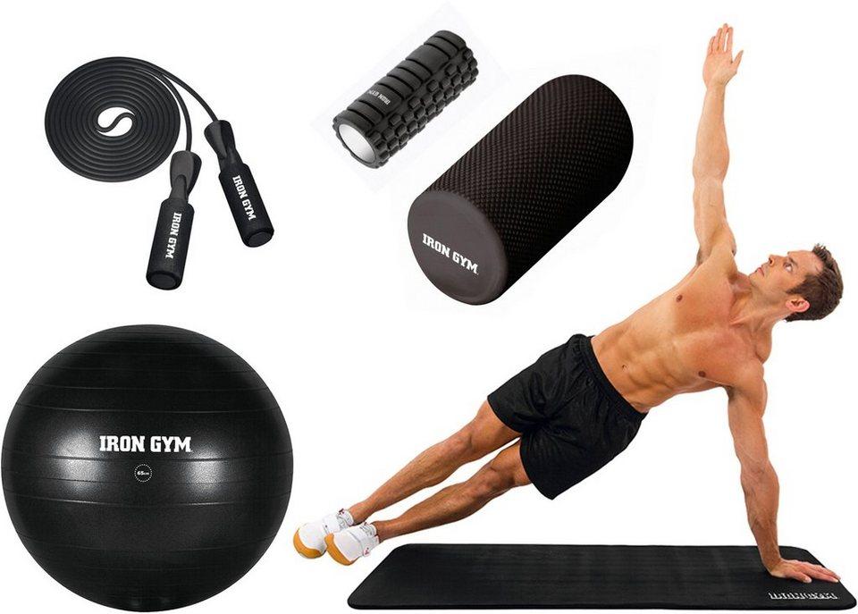 IRON GYM Fitness-Faszien-Set, »Fitness@ home« in schwarz