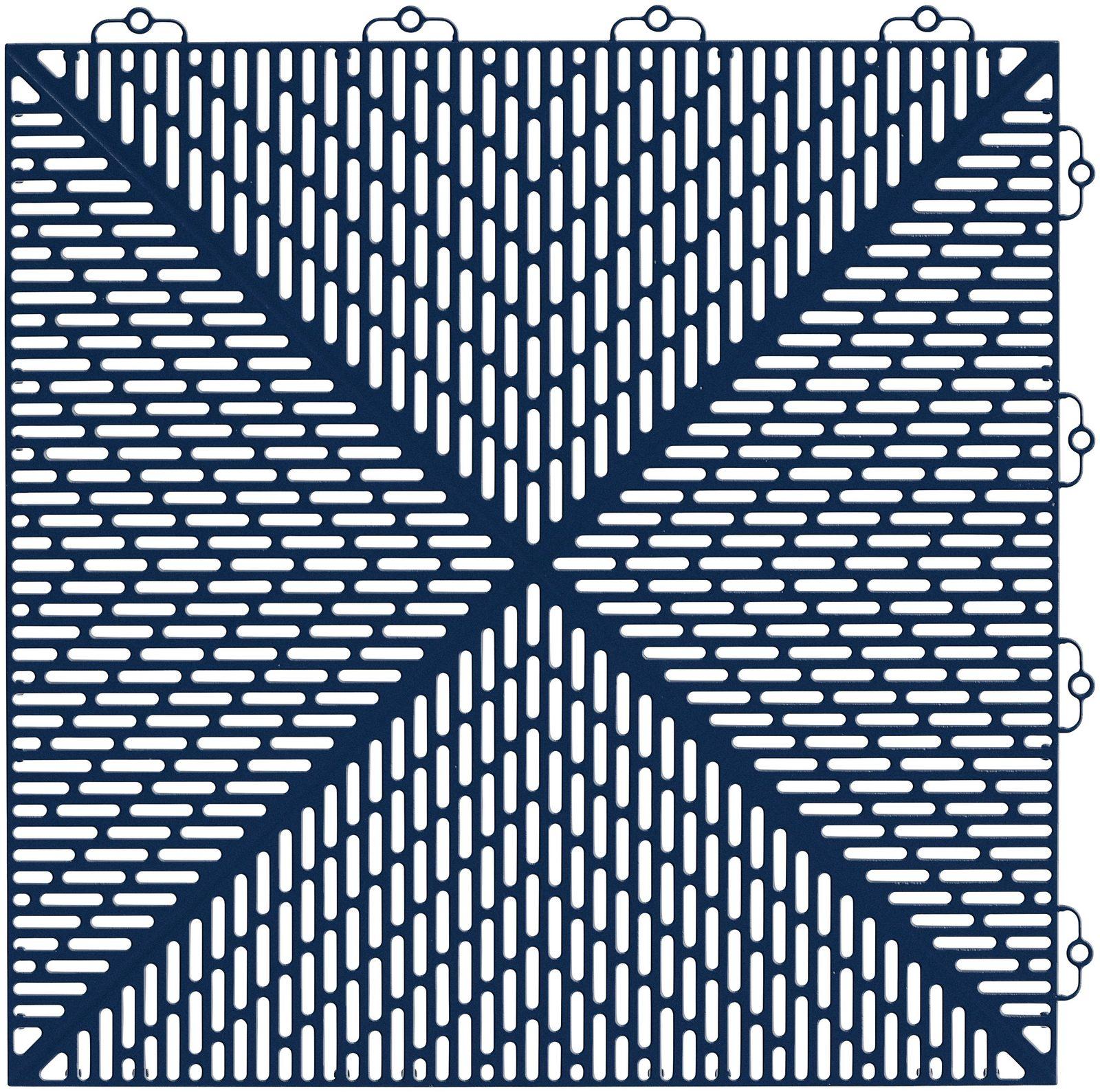 Set: Kunststofffliese »Unique«, 35 Stk. für 5 m², dunkelblau