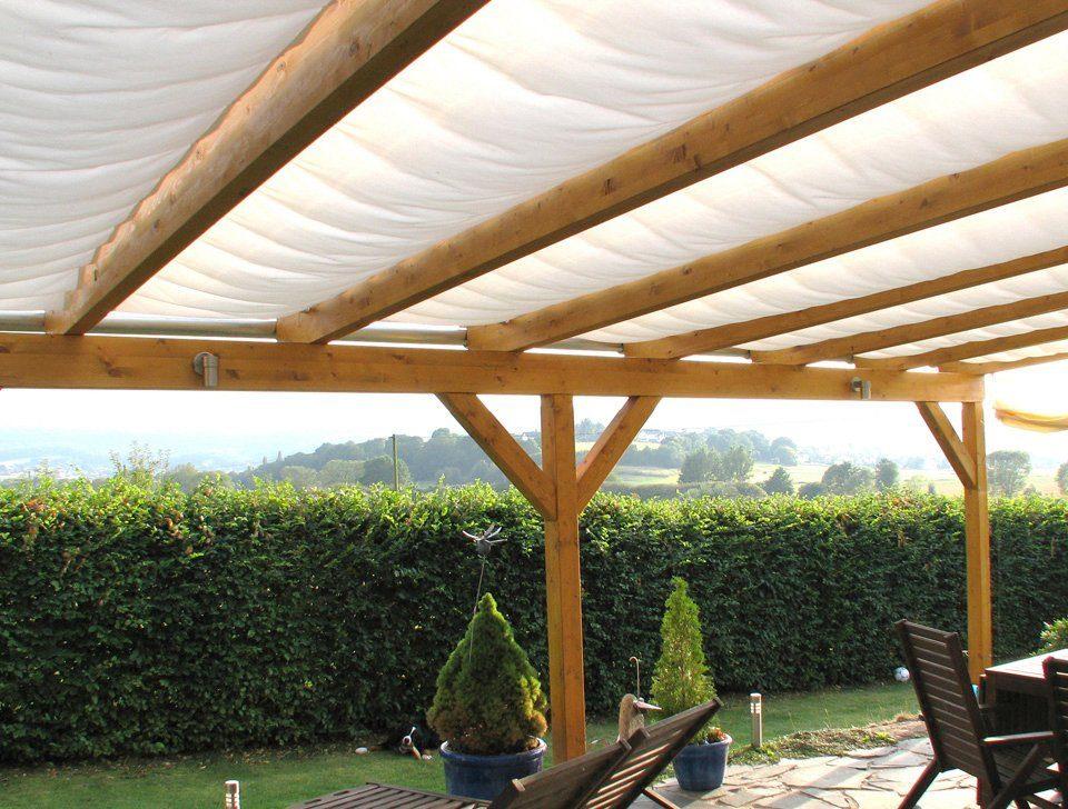 Sonnensegel , 5 Bahnen à 91 x 275 cm für 512 x 300 cm Terrassen