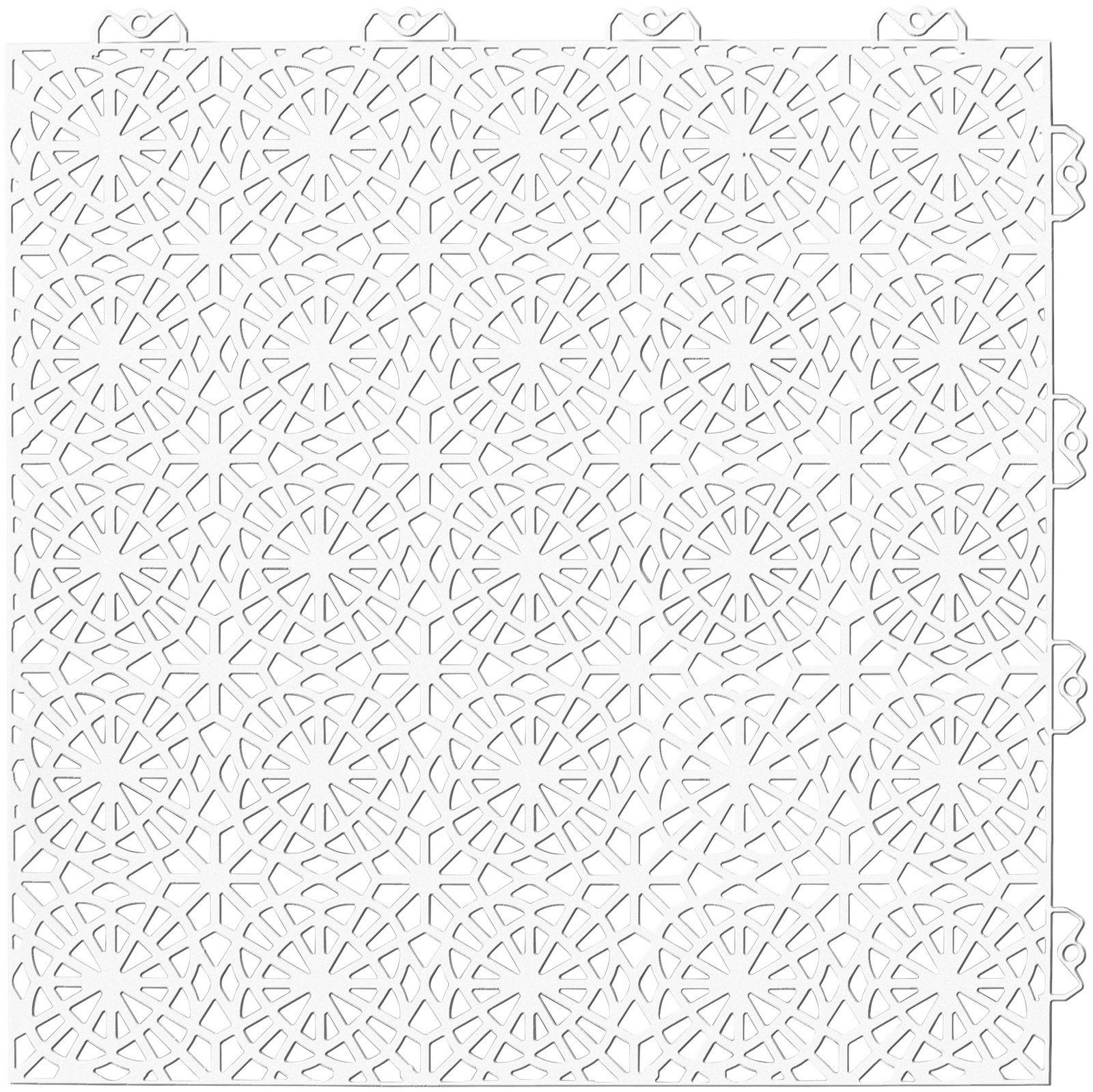 Set: Kunststofffliesen »XL« mit Klick-Verbindung, 35 Stk. für 5 m², weiß