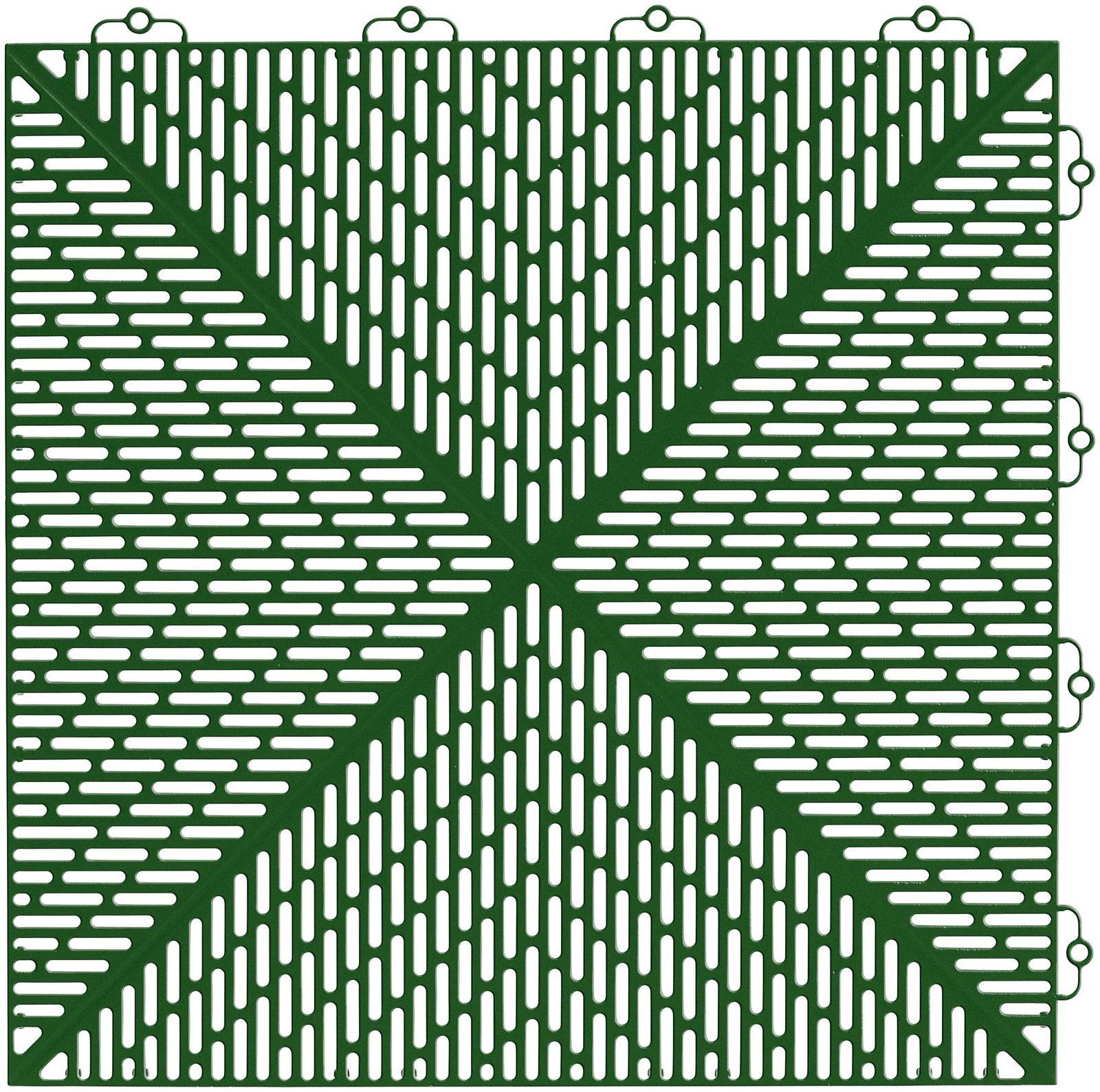 Set: Kunststofffliese »Unique«, 35 Stk. für 5 m², grün