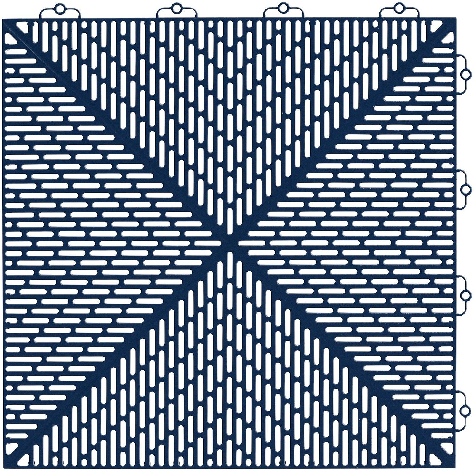 Set: Kunststofffliese »Unique«, 14 Stk. für 2 m², dunkelblau