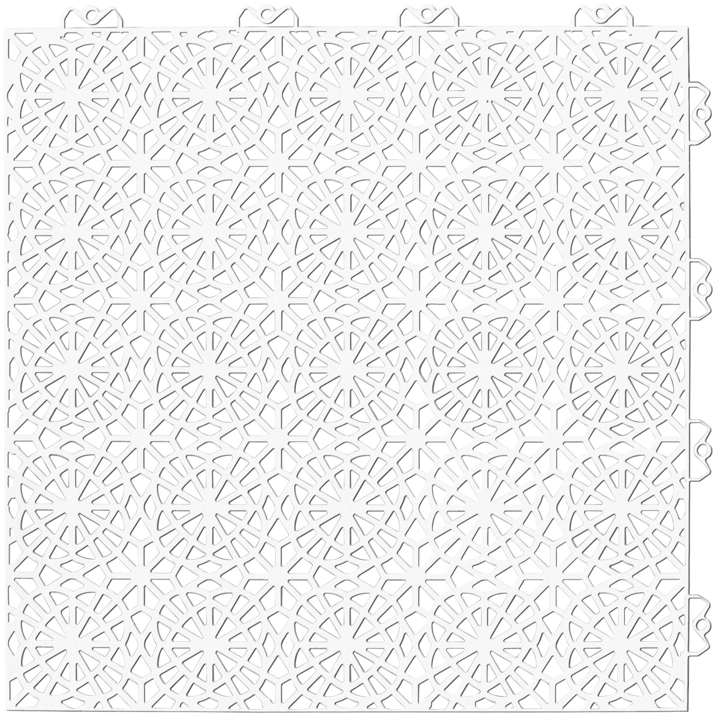 Set: Kunststofffliesen »XL« mit Klick-Verbindung, 14 Stk. für 2 m², weiß