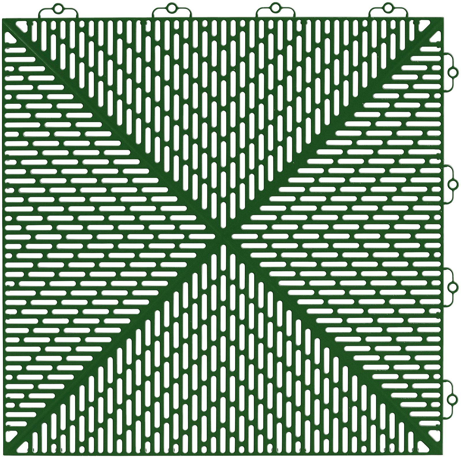Set: Kunststofffliesen »Unique« mit Klick-Verbindung, 14 Stk. für 2 m², grün