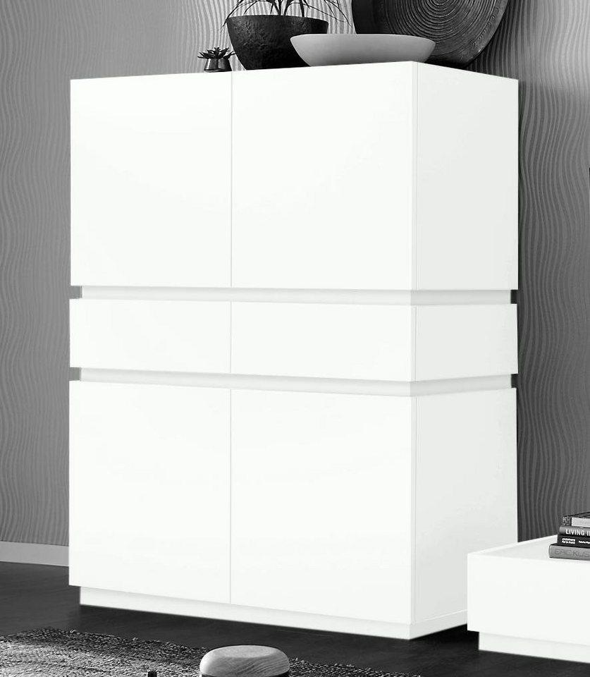 places of style highboard zela 4 t rig breite 123 cm mit soft close funktion online kaufen. Black Bedroom Furniture Sets. Home Design Ideas
