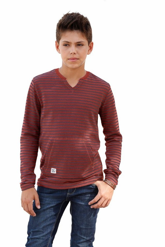 s.Oliver RED LABEL Junior Langarmshirt in dunkelrot