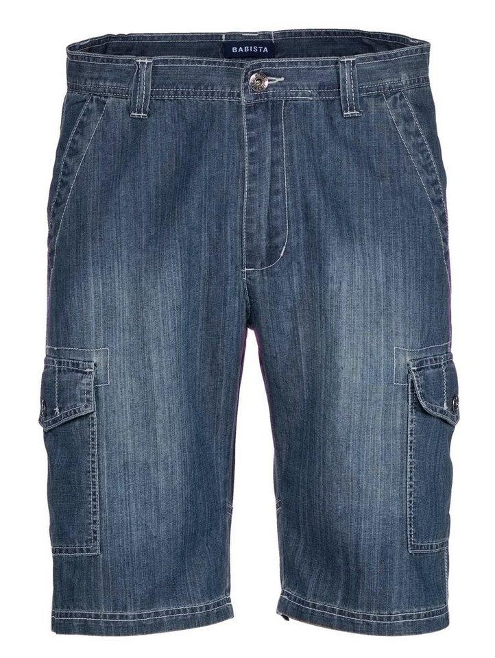 Babista Jeans-Bermuda mit Cargotaschen in blue stone