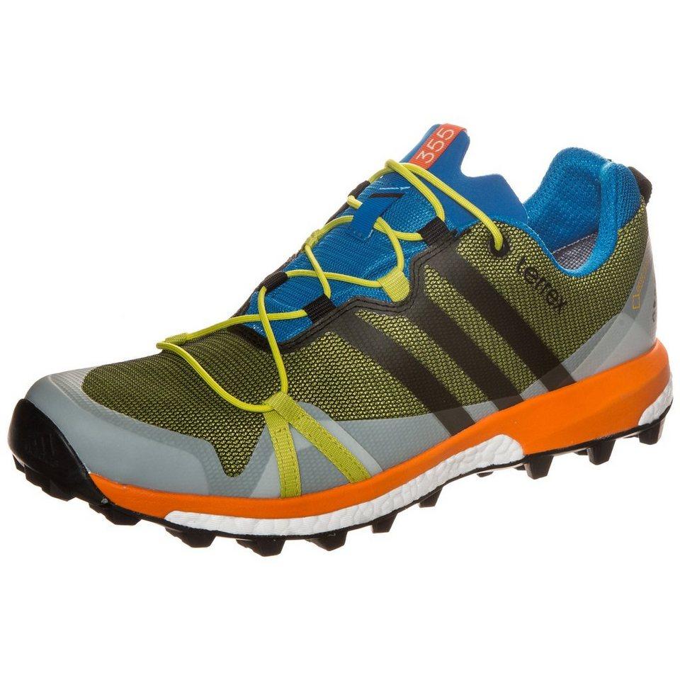 adidas Performance Terrex Agravic GTX Trail Laufschuh Herren in lime / grau / blau