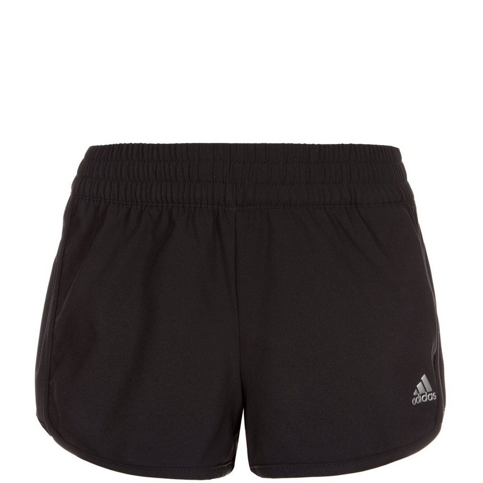 adidas Performance Mesh Trainingsshort Kinder in schwarz / silber
