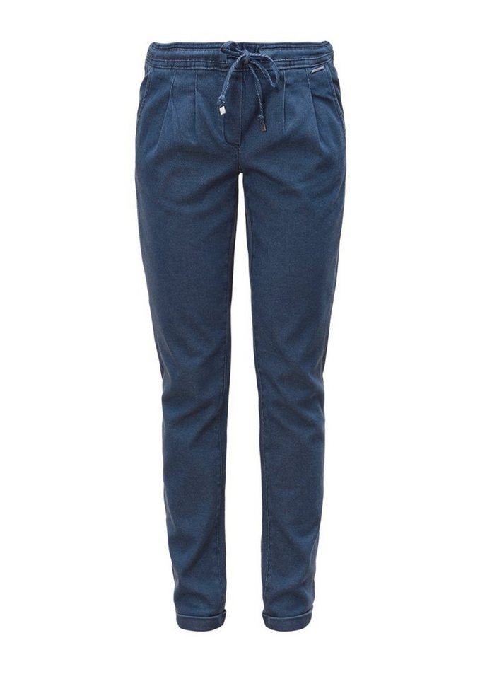 s.Oliver RED LABEL Smart Ankle: Chino aus Denim in navy