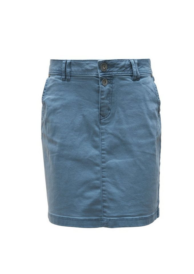 s.Oliver RED LABEL Kurzer Colored Denim-Rock in dusty blue