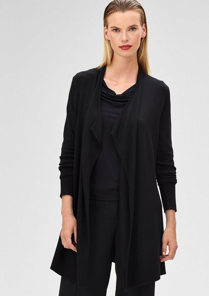 s.Oliver BLACK LABEL Longjacke aus Feinstrick in black
