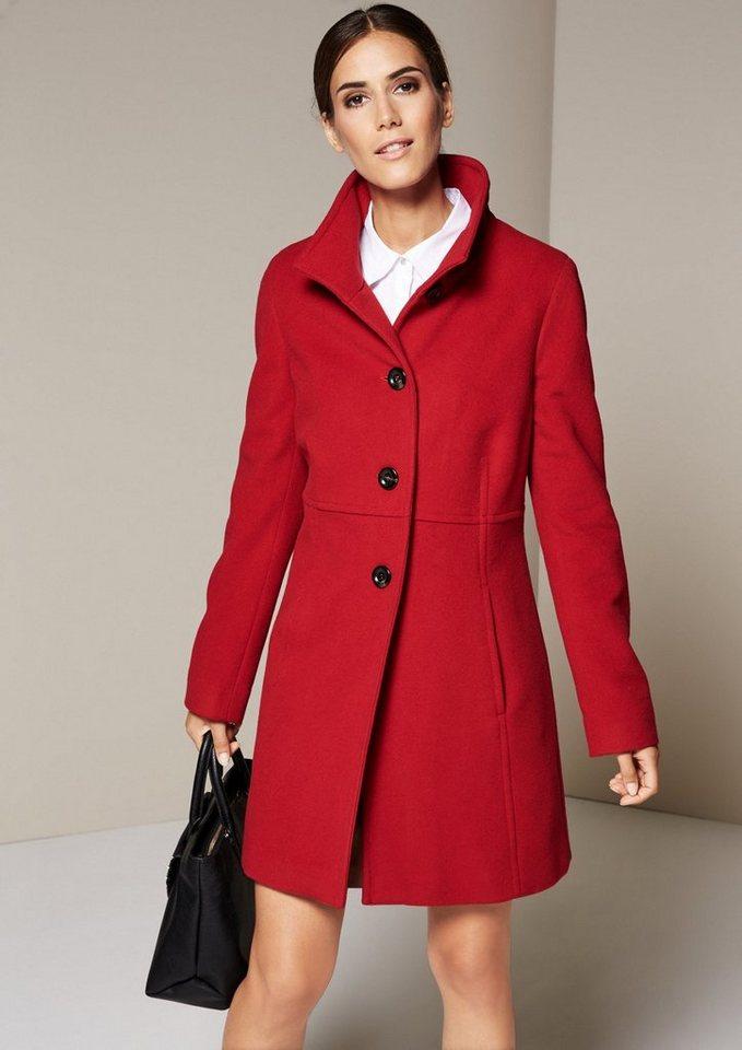 COMMA Warmer Mantel aus edlen Stoffen in red carpet