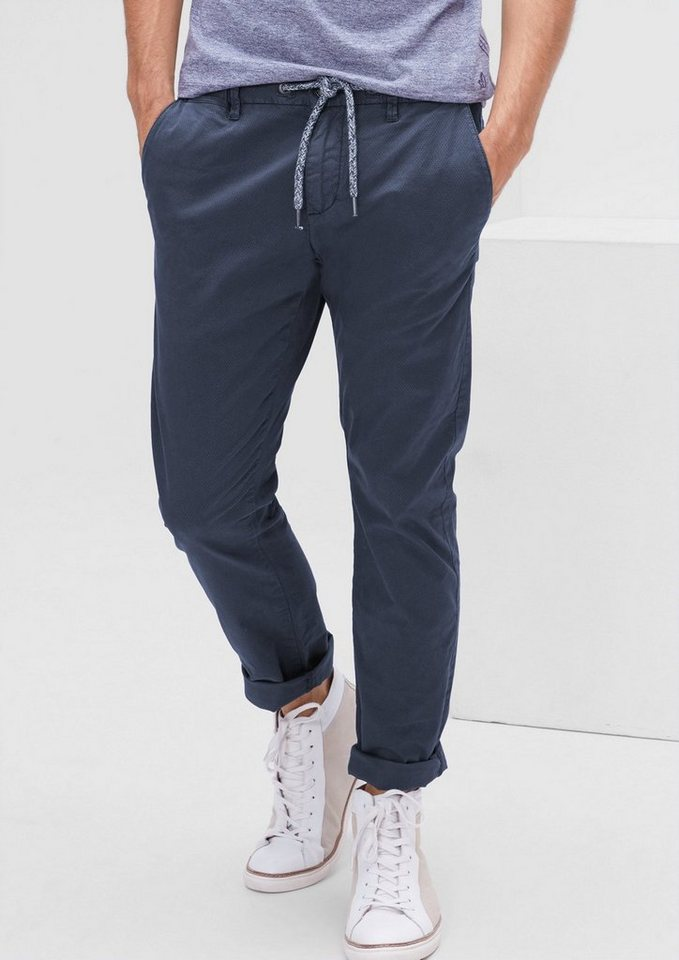 s.Oliver RED LABEL Sneck Slim: Chino mit Minimalmuster in tattoo blue