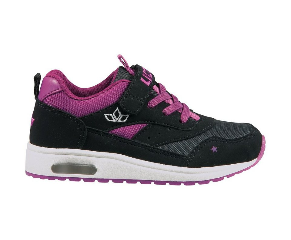 LICO Sneaker für Mädchen mit Klettverschluss »Cool VS« in schwarz/pink/weiß