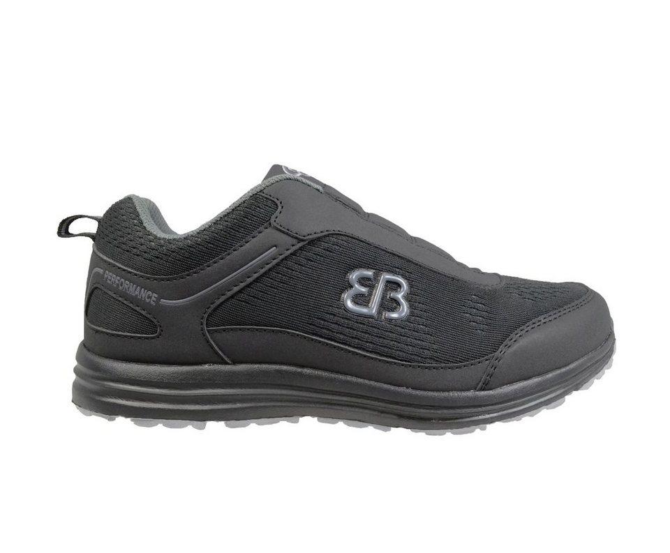 Brütting Freizeitschuh »Performance slipper« in schwarz/grau