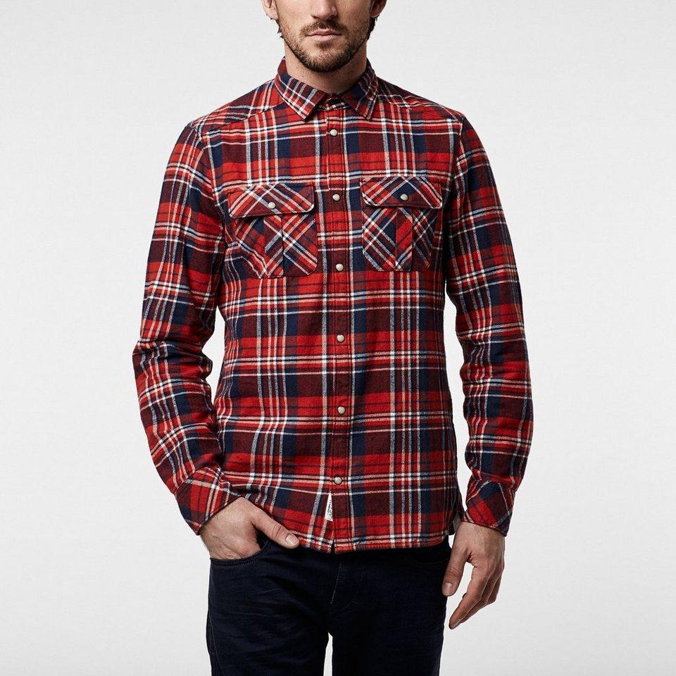 O'Neill Hemd langärmlig »Violator Flannel« in Rot / Weiß