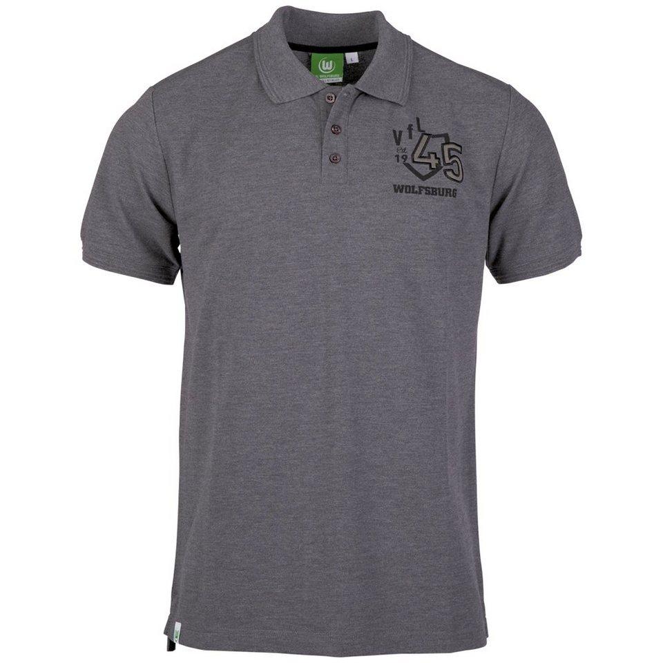 KAPPA Fanartikel »VFL Wolfsburg Unbranded Polo Shirt« in dark gr. melange