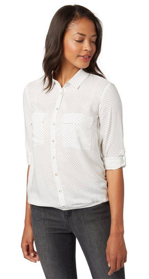 TOM TAILOR Bluse »feminine shirtblouse« in whisper white