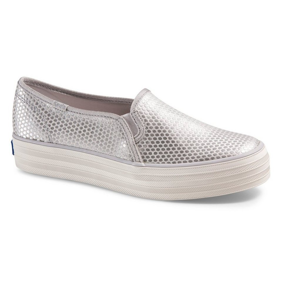 Keds Slip On Shimmer Look »Triple Decker Shimmer Dot« in silber