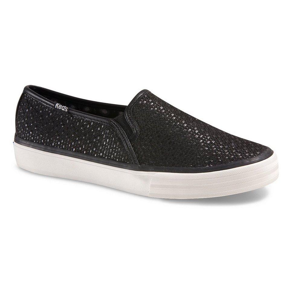 Keds Slip On Sneaker »Double Decker Woven« in schwarz
