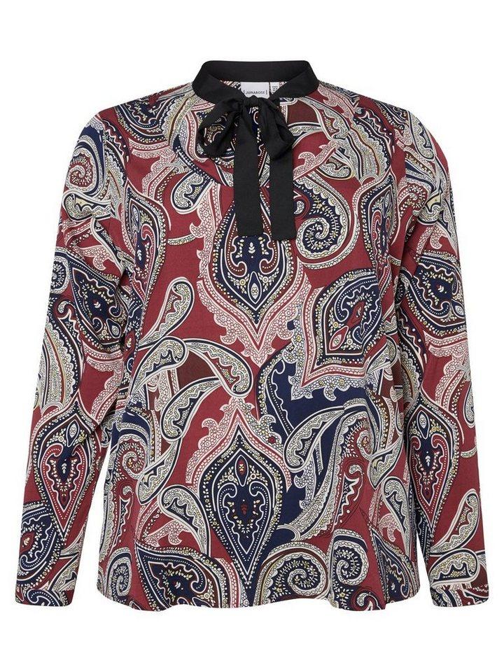 JUNAROSE Langärmelige Bluse in Maroon