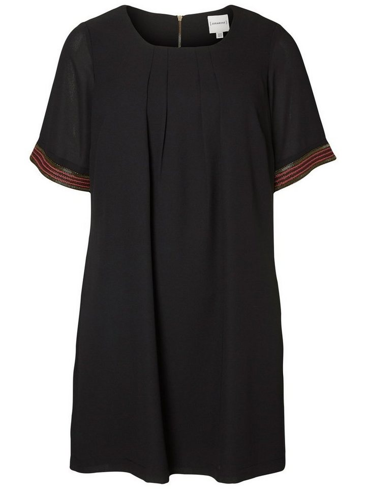 JUNAROSE 2/4-ärmeliges Kleid in Black