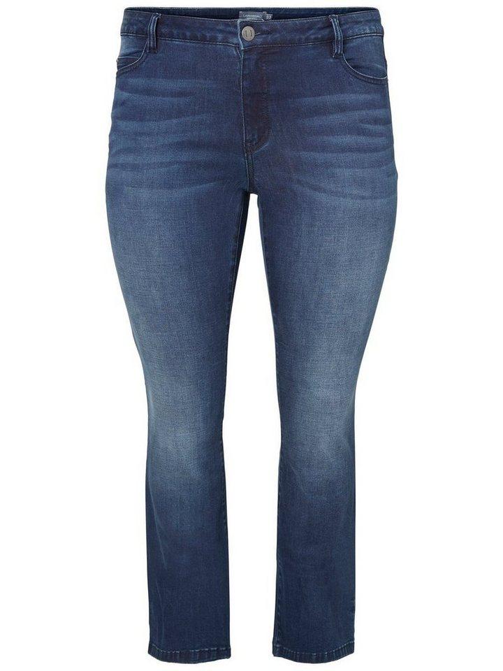 JUNAROSE JESSIE BOOTCUT Jeans in Dark Blue Denim