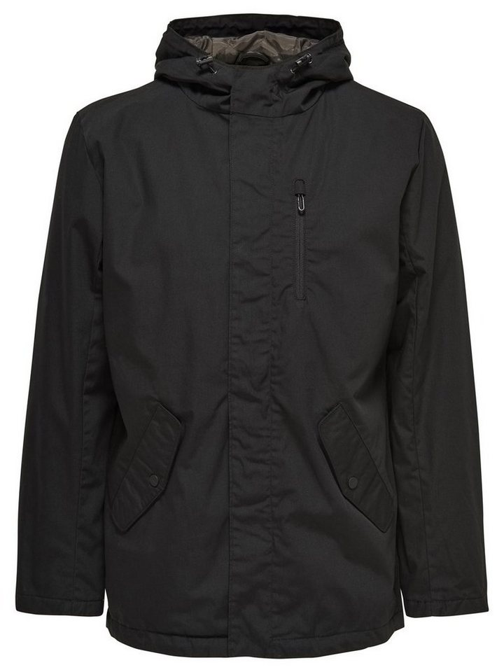 ONLY & SONS Einfarbiger Parka in Black