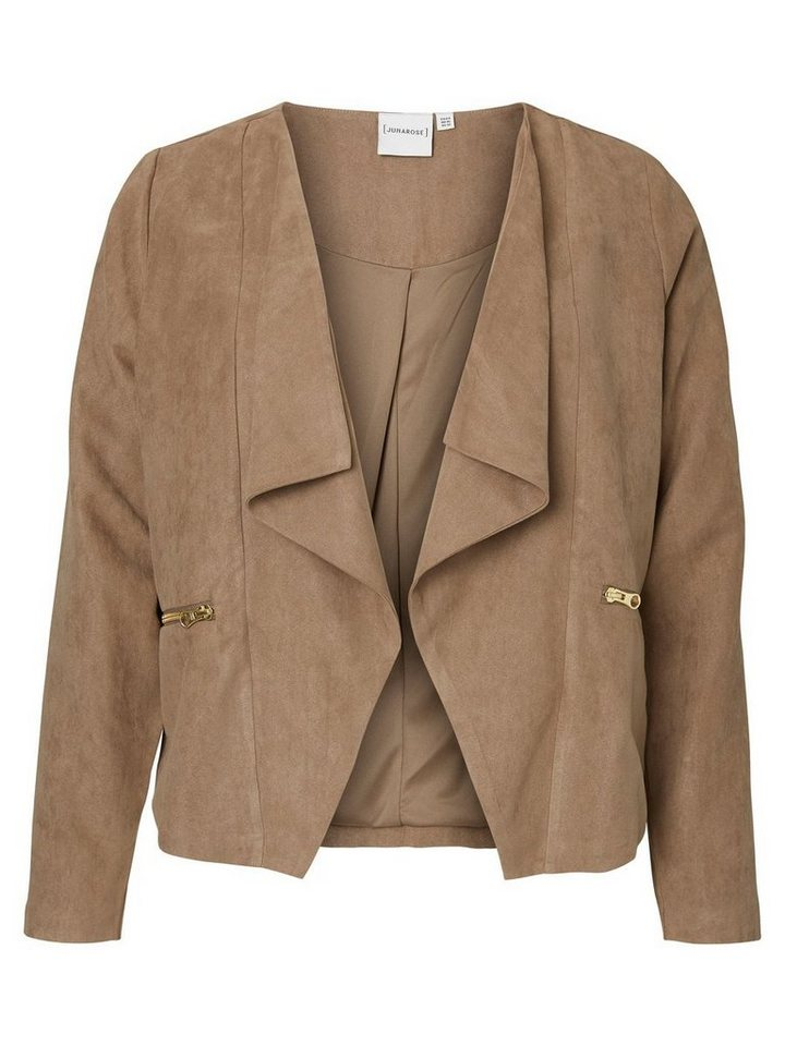 JUNAROSE Wildleder look Blazer in Fossil