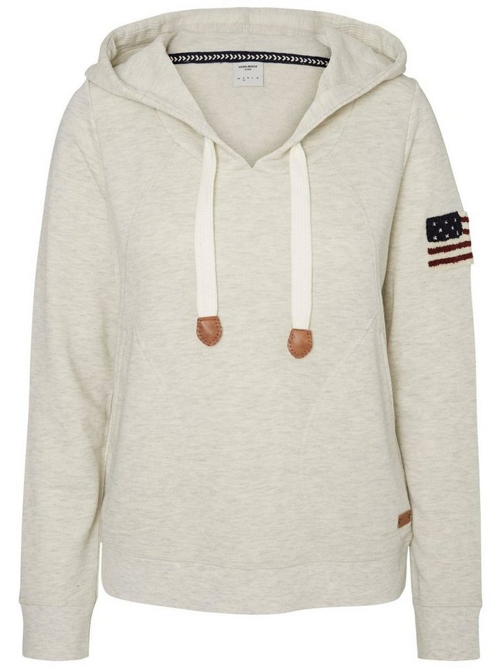 Vero Moda Langärmeliges Sweatshirt in Oatmeal
