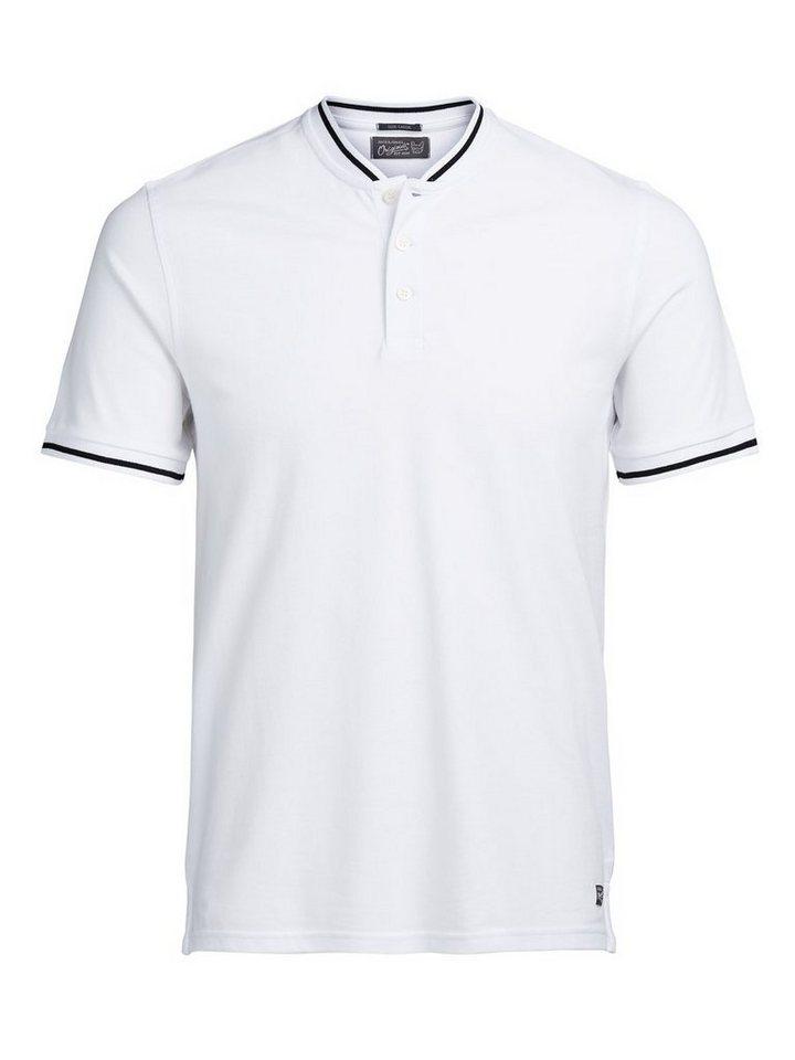 Jack & Jones Henley- Poloshirt in White