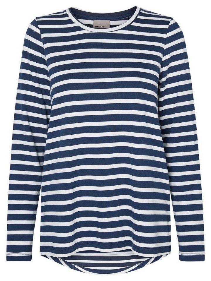 Vero Moda Langärmeliges Sweatshirt in Total Eclipse