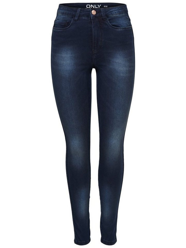 Only Ravage high waist dark blue Skinny Fit Jeans in Dark Blue Denim