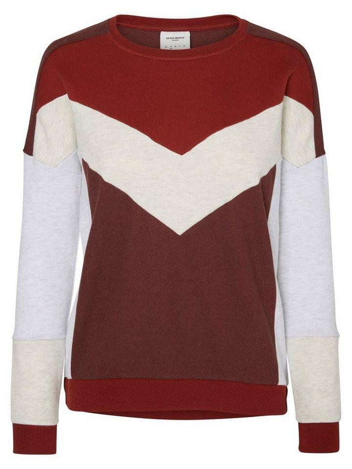 Vero Moda Langärmeliges Sweatshirt in Decadent Chocolate