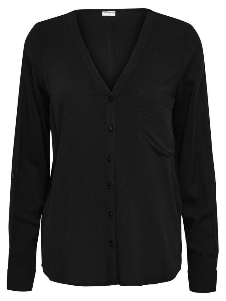 Only Lässiges Hemd in Black