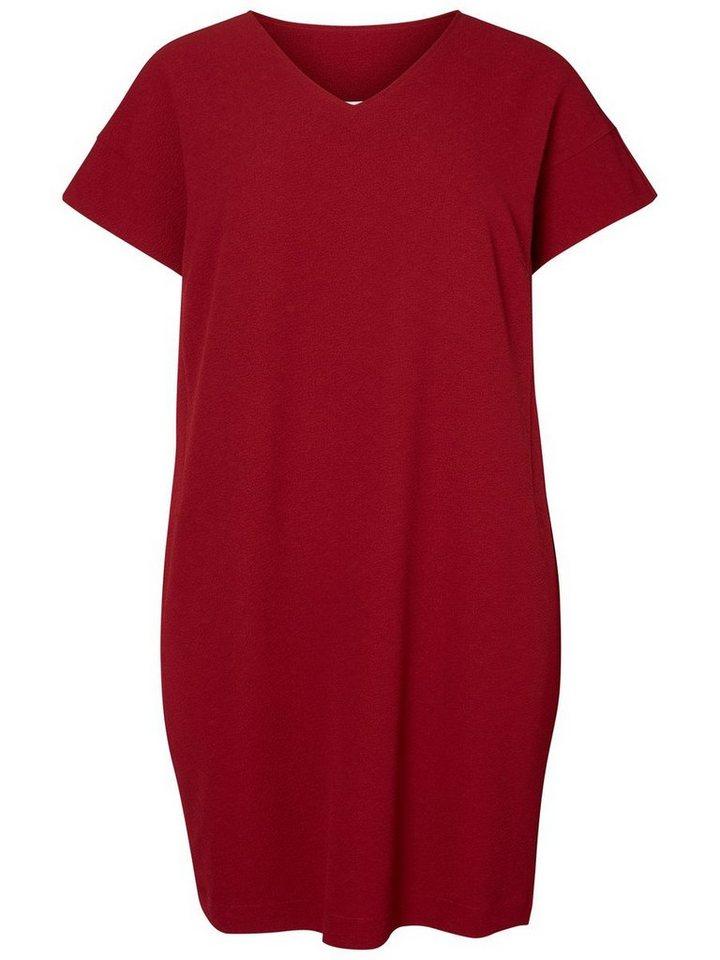 JUNAROSE Kurzärmeliges Kleid in Biking Red