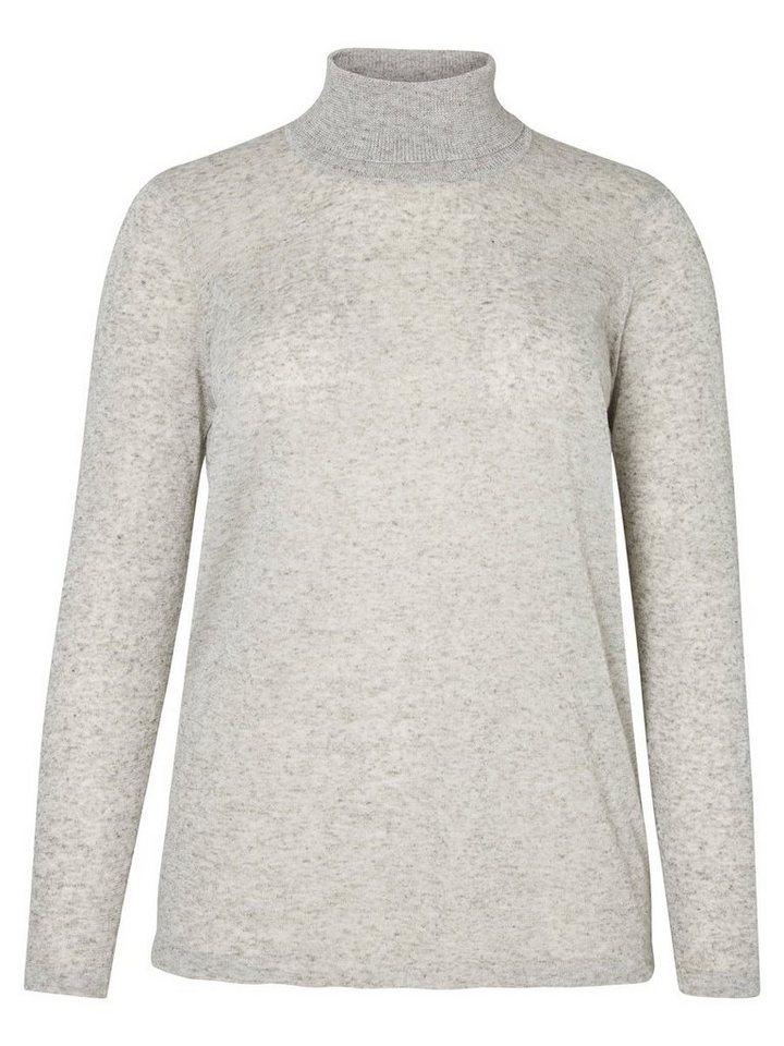 JUNAROSE Rollkragen- Bluse in Light Grey Melange