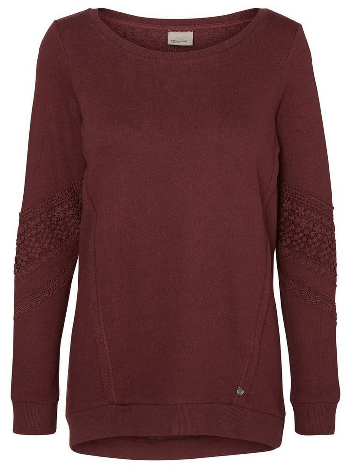Vero Moda Langärmelige Sweatshirt in Decadent Chocolate