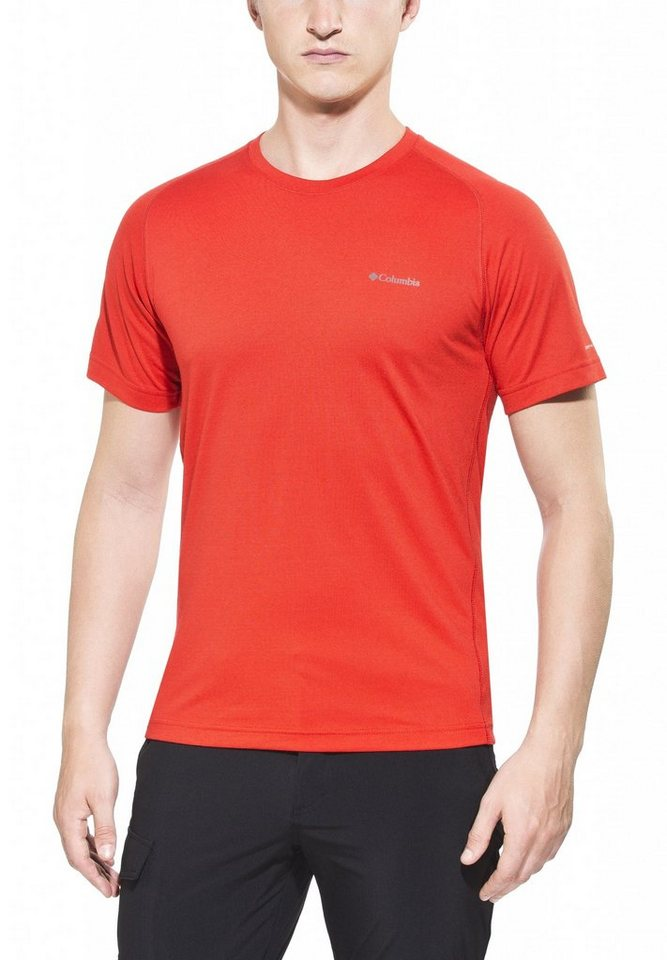 Columbia T-Shirt »Mountain Tech III Short Sleeve Crew Men« in rot