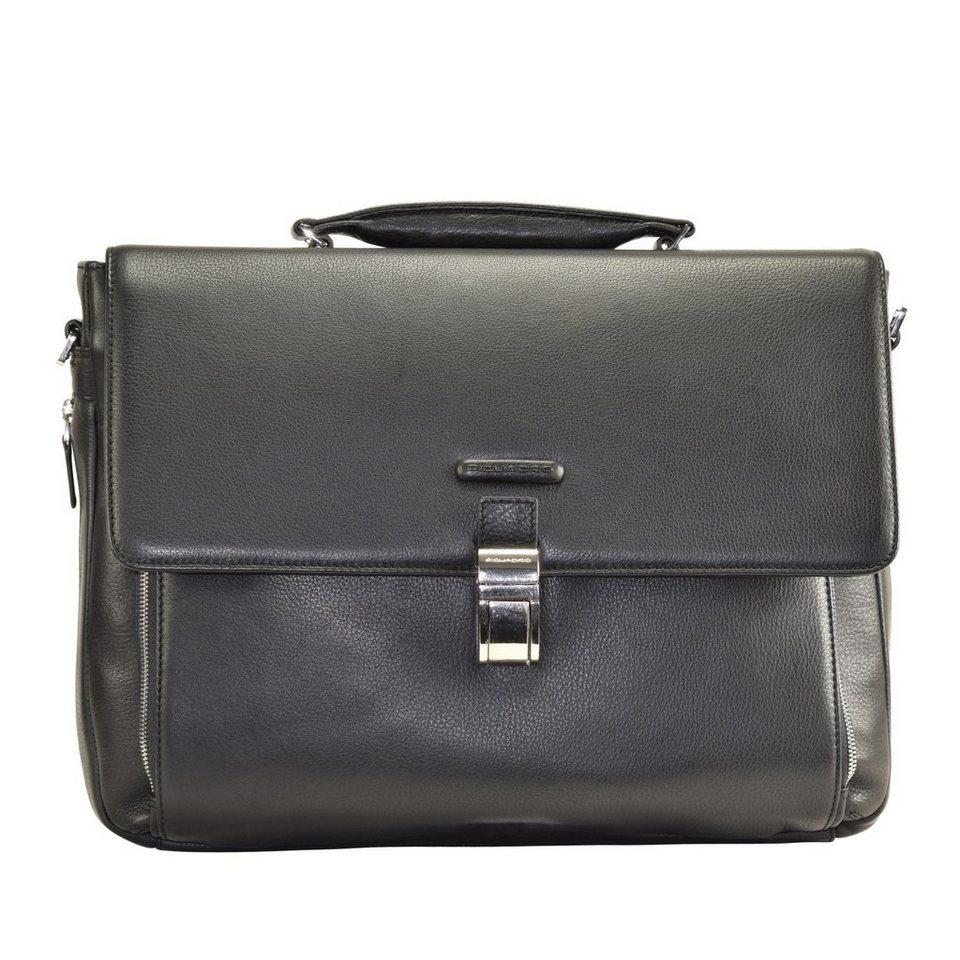 Piquadro Modus Messenger Leder 41 cm Laptopfach in black