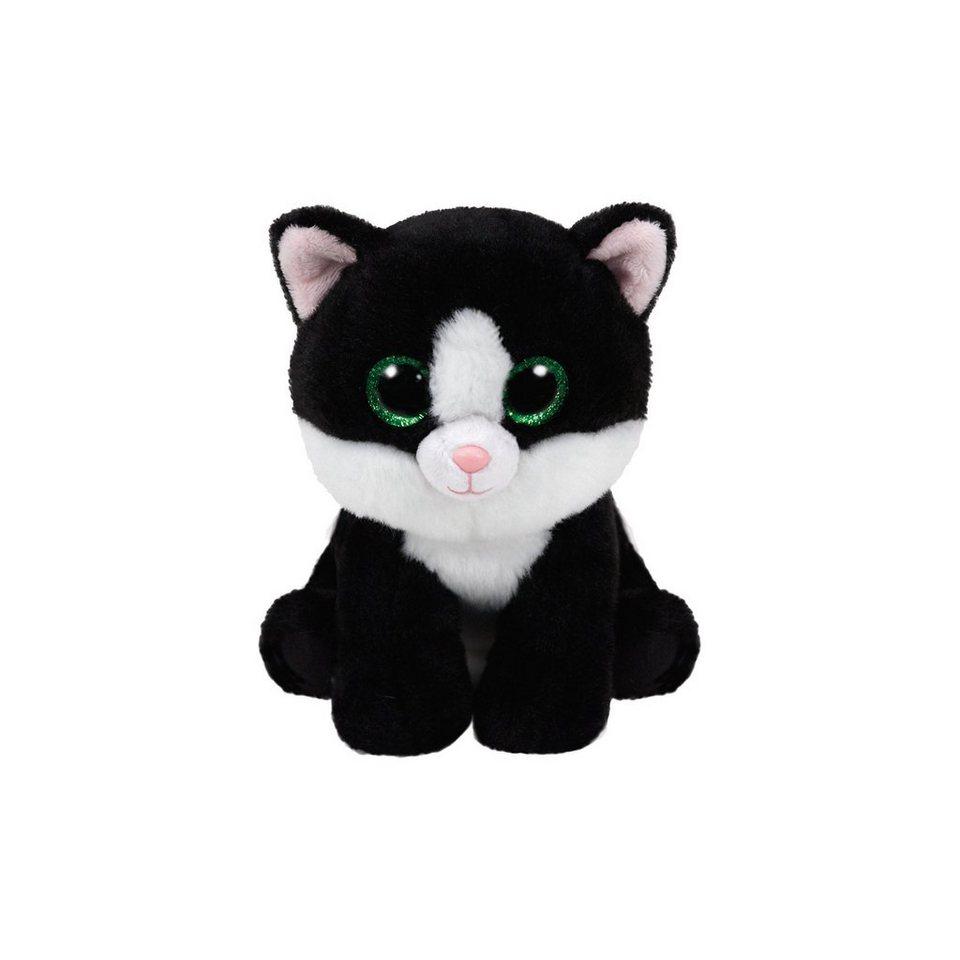 Ty Beanie Babies Katze Ava 15cm schwarz weiss