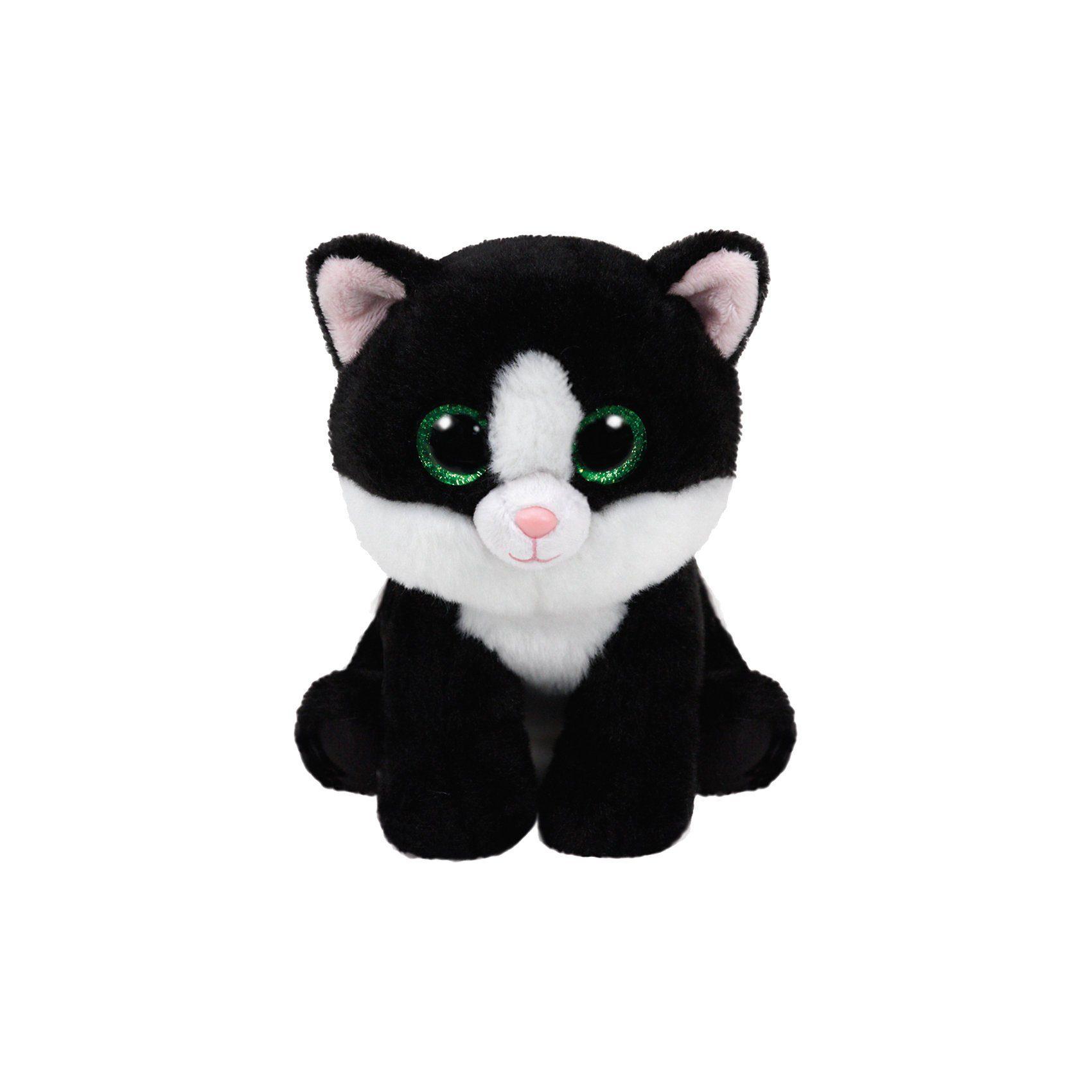 Ty® Beanie Babies Katze Ava 15cm schwarz weiss