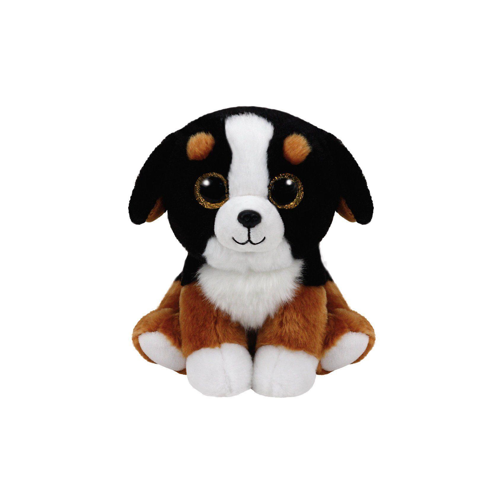 Ty® Beanie Babies Hund Roscoe 15 cm schwarz weiss
