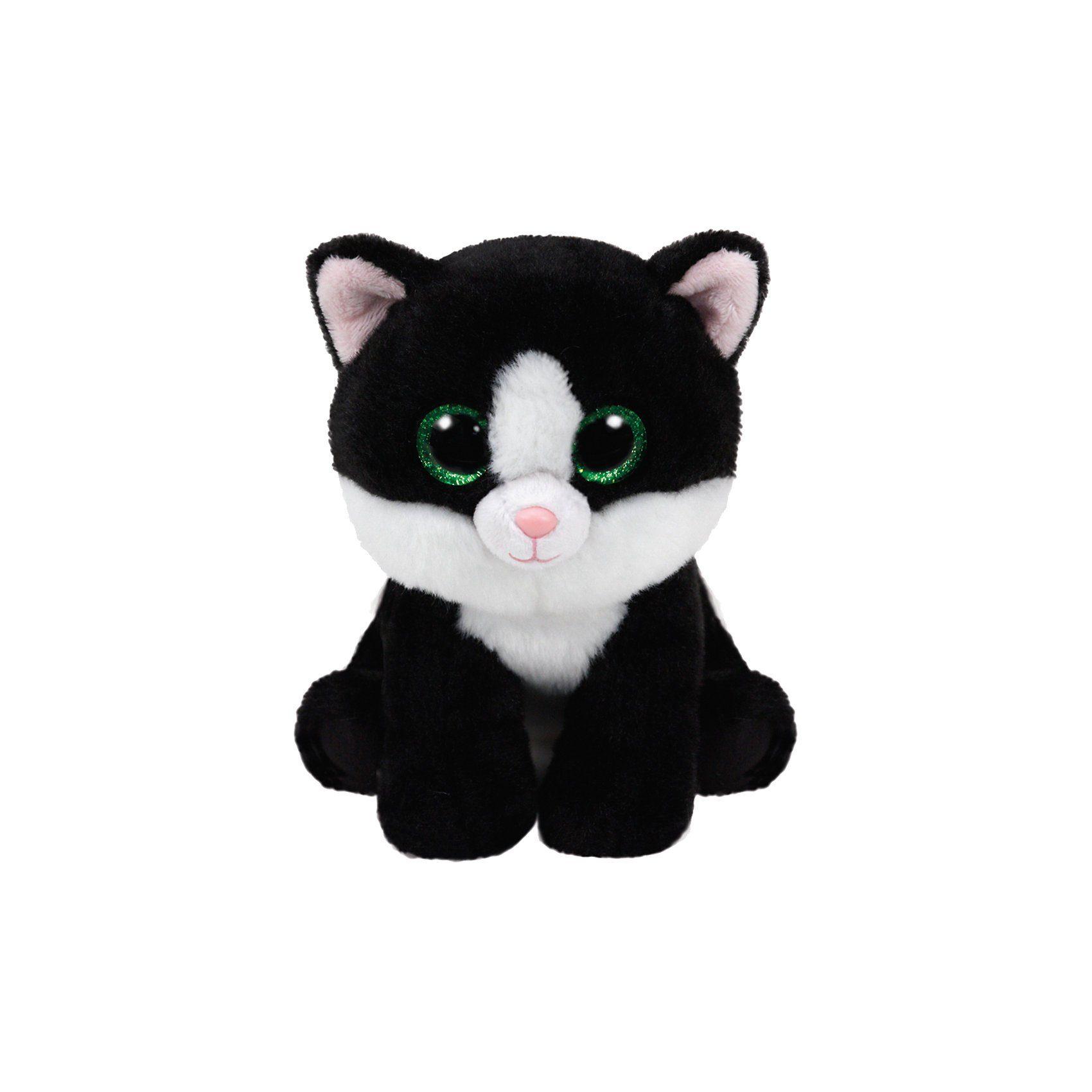 Ty® Beanie Babies Katze Ava 33cm schwarz weiss