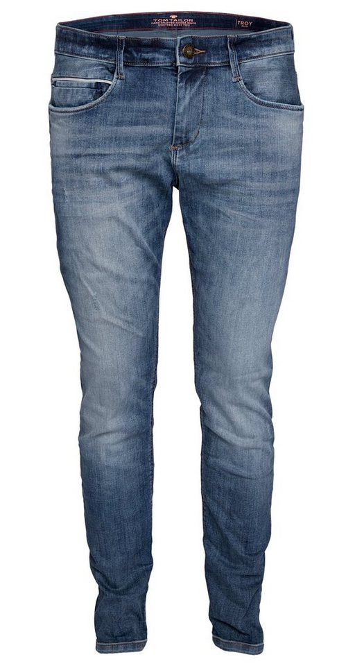 TOM TAILOR Jeans »Used-Jeans mit Destroys« in light stone wash den