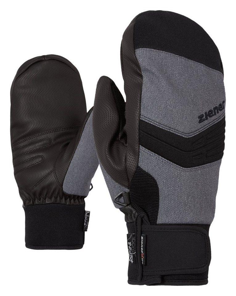 Ziener Handschuh »GINOSSO AS(R) AW MITTEN glove ski a« in grey denim