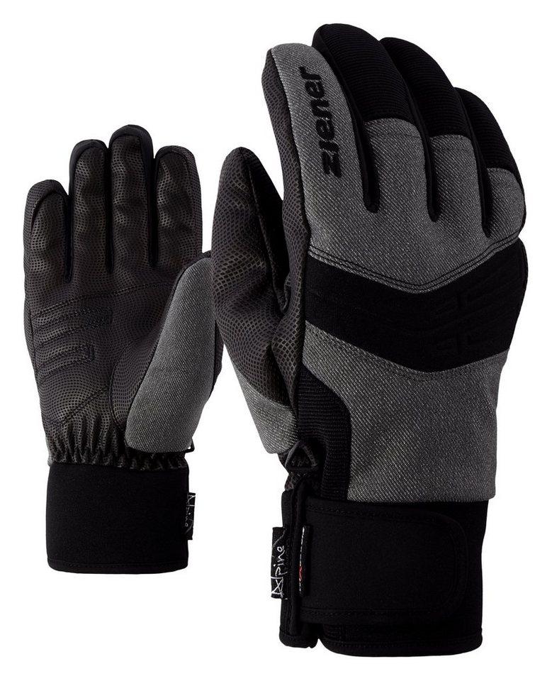 Ziener Handschuh »GINO AS(R) AW glove ski alpine« in grey denim